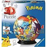 Ravensburger 3D Puzzle 11785 - Puzzle-Ball Pokémon - 72 Teile - Puzzle-Ball für Pokémon Fans ab 6 Jahren: Erlebe Puzzeln in d
