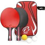 Tencoz Racchette da Ping Pong Set, Set da Ping Pong Set Racchette Ping Pong, Racchette Ping Pong in Gomma Premium a…