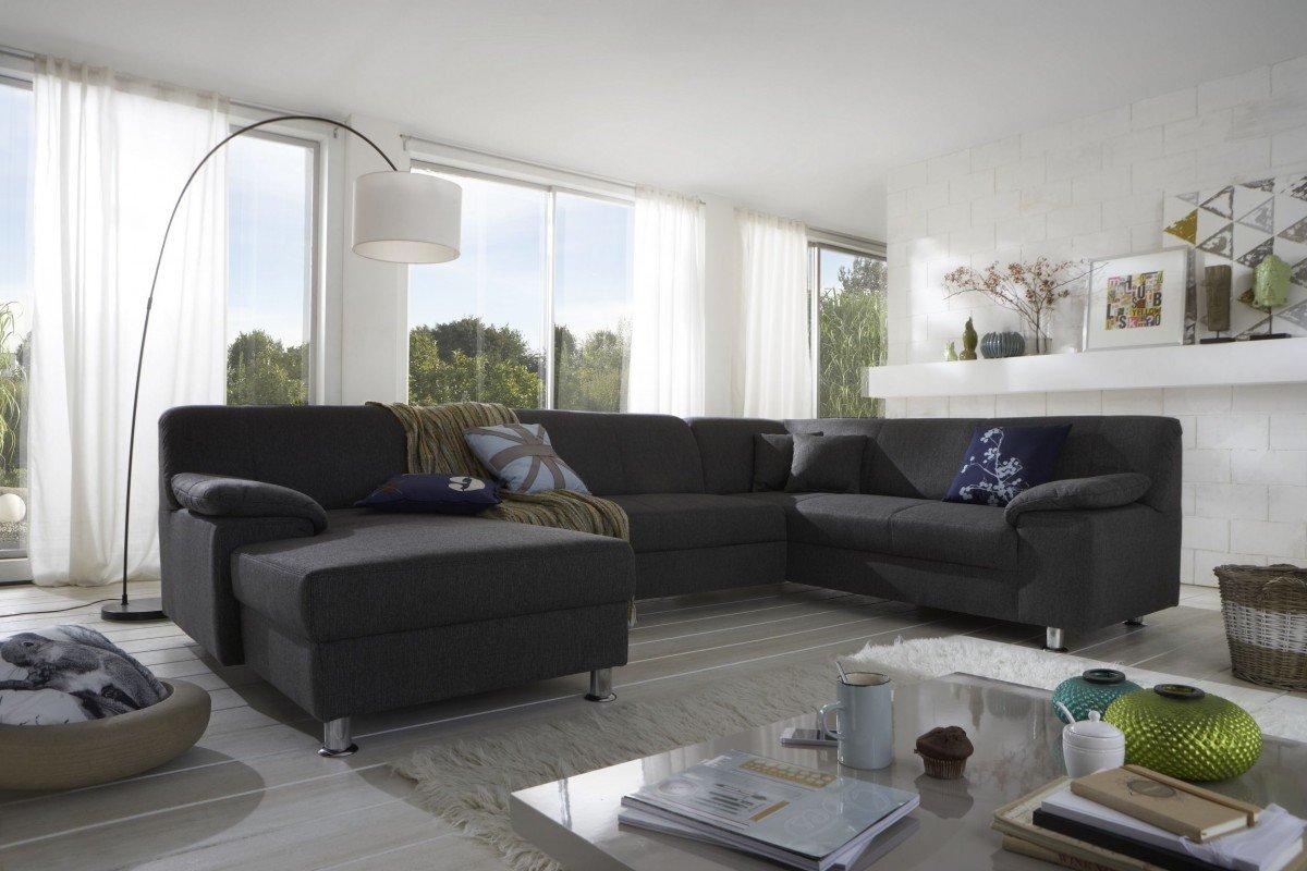 Couch u form schlaffunktion  Dreams4Home Polsterecke Laguna Sofa Wohnlandschaft Couch U-Form ...