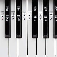 BELFORT® Klavier + Keyboard Noten-Aufkleber für 49 | 61 | 76 | 88 Tasten + Ebook | Piano Sticker Komplettsatz für…