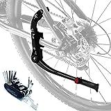 Qsnn Béquille de vélo universelle réglable en hauteur avec support en caoutchouc antidérapant pour VTT 24, 26, 27,5, 28, 29 p