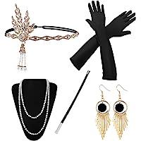 HG Power 1920 Accessories, Années 1920 Accessoires Gatsby Costume Set Bandeau Flapper, Charleston Accessoires Collier…
