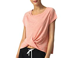SPECIALMAGIC Ladies Yoga Tops Loose Gym Running Relaxed T-Shirt Activewear Baggy Ultra Soft Athletic Sports Gym Tops for Wome
