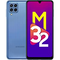 Samsung Galaxy M32 (Light Blue, 6GB RAM, 128GB Storage) 6 Months Free Screen Replacement for Prime