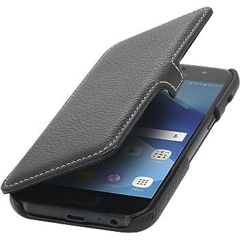 StilGut Book Type avec Clip, Housse en Cuir pour Samsung Galaxy A3 (2017).  Etui de Protection à Ouverture latérale avec Fermeture clipsée, Noir 02e183fde552