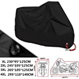ANFTOP Motorfiets Cover 4XL Motorbike Scooter Cover Zwart Kleur Wit Lock Gaten Waterdichte UV Beschermhoes XXXXL