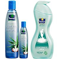 Parachute Advansed Aloe Vera Enriched Coconut Hair Oil, 250ml (Free 75ml) And Parachute Advansed Body Lotion Soft Touch…