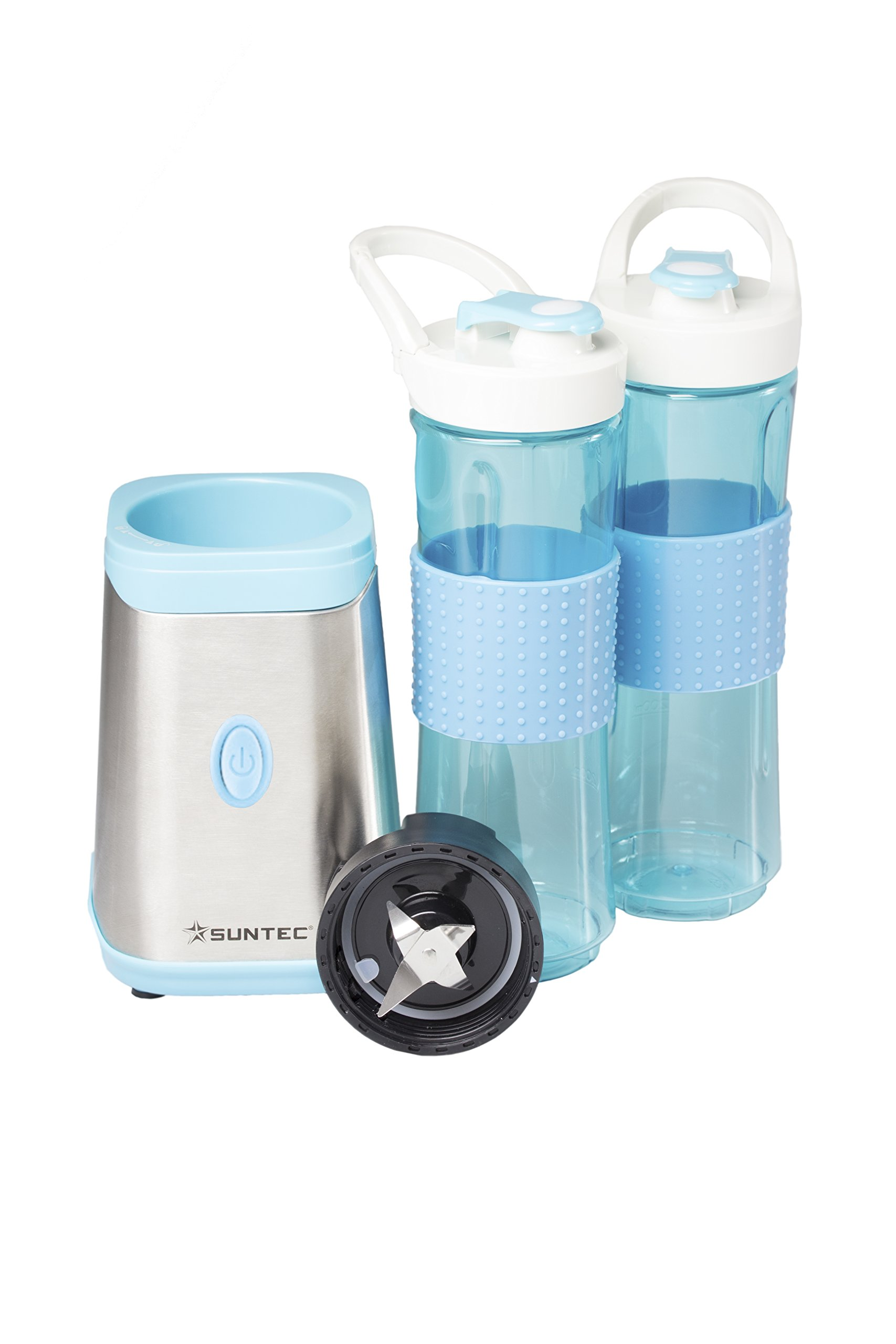 SUNTEC-Smoothie-Maker-SMO-9936-Inkl-2-Sportflaschen–600-ml-mit-Karabinerverschluss-auch-fr-Eis-geeignet-NEU-max-350-Watt