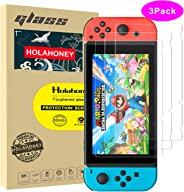Holahoney [3 Pack] Nintendo Switch HD Screen Protector Tempered Glass Film, Transparent Clear Anti-Scratch Screen Protector