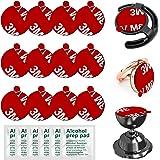 Anteel - Adhesivo para Soporte Magnético de Teléfono para Coche y Base de Soporte para Anillo de Teléfono, 12 piezas de 23 mm