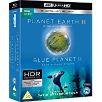 Planet Earth II and Blue Planet II: The Collection (Uncut) [4K Ultra HD] (2016-2017) | Imported from UK | BBC | 2 Seasons | 10 Discs | 703 min | Documentary | Narrator: David Attenborough