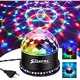 Boule Disco, Boule a Facette 12W 51 LEDs 12.5x12.5x13CM Lampe de Scène Lumière Soirée Lumière Fête Ampoules Jeux de Lumière P