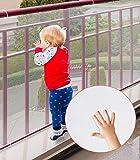 Rete di sicurezza per bambini, Cyiecw protezioni ringhiera resistenti per bambini Sicurezza per scale interne Rotaie…