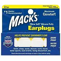 Mack's Lot de 2 paires de bouchons d'oreille souples