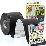 NO LABEL Pre Cut Kinesiologie Tape - Pre-Cut Sport Tape Strapping Spiertape Sport Tape | Pro 5 m Medische Roll H20 20 x Voorg