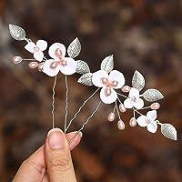 Mayelia, forcine per capelli da sposa con perle e fiori, accessori per capelli da sposa per donne e ragazze