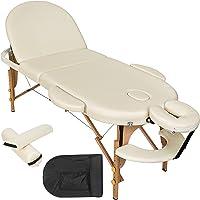 TecTake Table de Massage cosmetique lit de Massage 3 Zones Reiki Oval + Accessoires - diverses Couleurs au Choix…