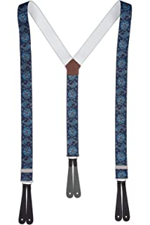 Quality Plain Mens Trouser Braces Button Suspenders With