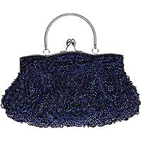 VENI MASEE Damen Handgemachte Perle Handtasche, Abendtasche Damen Clutch Für Party