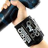 Bracelet Magnétique, 10 Puissants Aimants Forts Magnet Arm Band pour les Vis de Maintien, Rondelles, Ciseaux, Petits Outils,