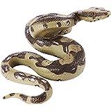 Amosfun Realistische slang speelgoed grote rubberen slang simulatie python-model het echte strijk cobra Halloween grap speelg