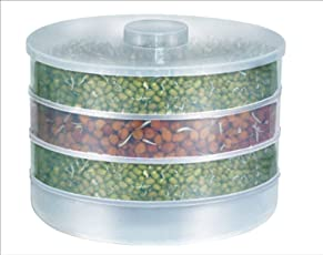 Harikrishnavilla Plastic Sprout Maker Box with 4 Container