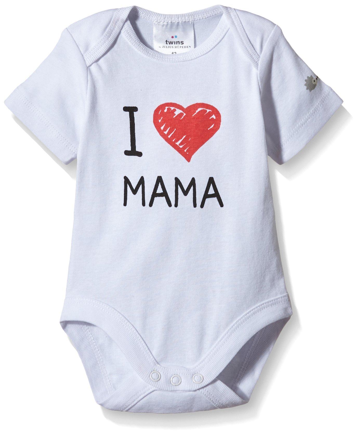 Twins Body con impresión «I Love Mama» para Bebé, Unisex