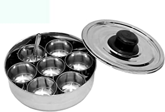 Dharam Paul Traders Stainless Steel Salt Box/Namakdani/Masala Dani With 7 Containers And 1 Spoon.