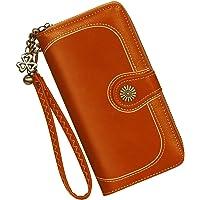 Portafoglio in pelle da donna di grande capacità Portafoglio di alta qualità borsa, con molti scomparti e 11 porta carte…