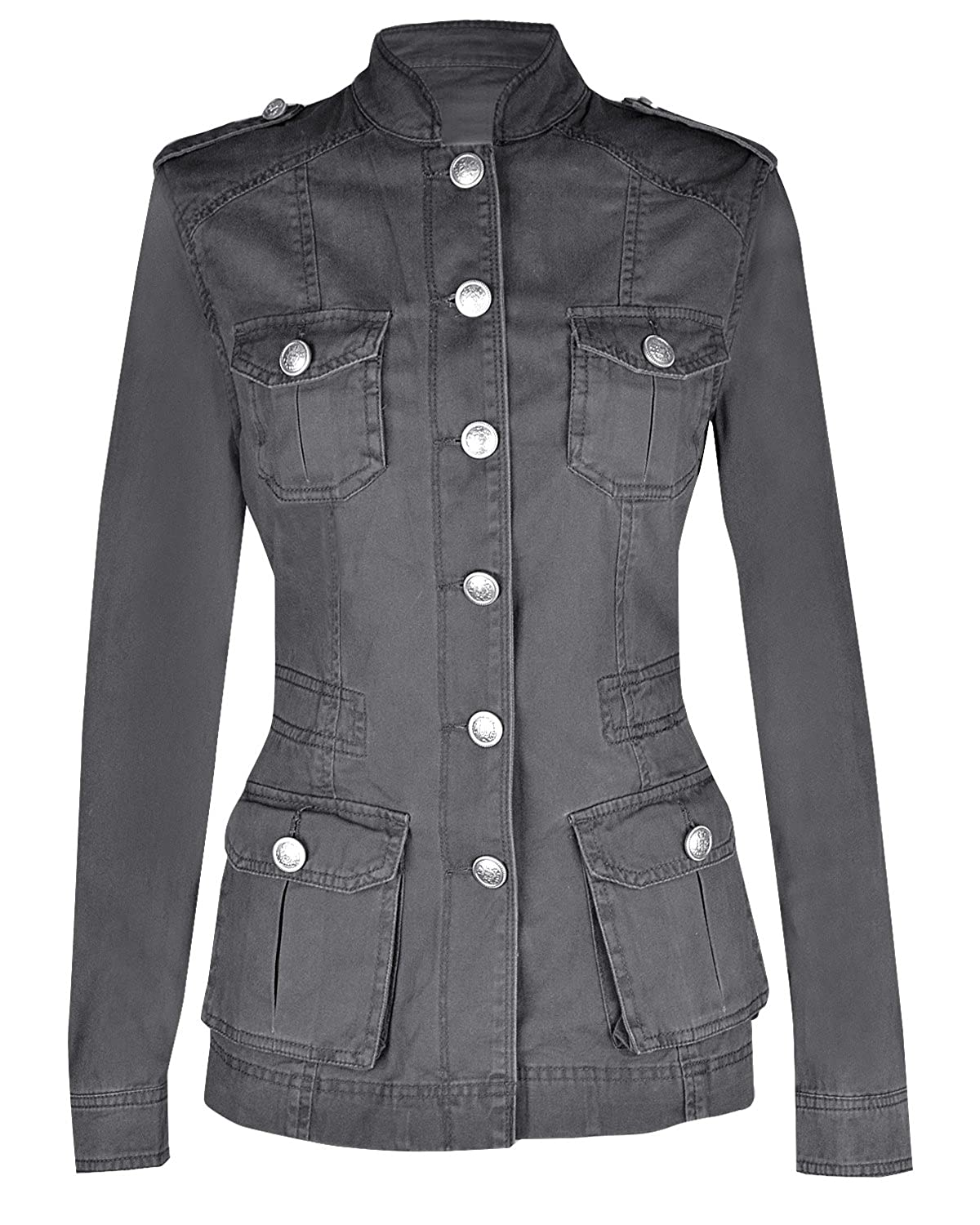 LADIES MILITARY STYLE Summer JACKET: Amazon.co.uk: Clothing