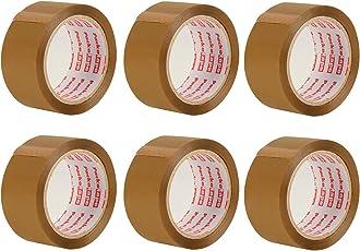 Packatape 6 Rollen 48 mm x 66 m Braun Klebeband Verpackung für Pakete und Boxen