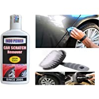 INDOPOWER CAR Scratch Remover 100gm (Not for Dent & Deep Scratches)+All Tyre Cleaning Brush