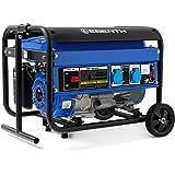 EBERTH 3000 Watt Générateur à essence (châssis, moteur à essence 6,5 CV, 4 temps, refroidi par air, 2x 230 V, 1x 12 V, voltmè