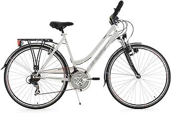 KS Cycling Damen Fahrrad Trekkingrad Vegas RH Multipositionslenker, Weiß, 28 Zoll, 110T