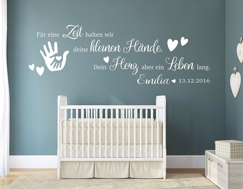 tjapalo® pkm191-name (B160xH53cm) Wandtattoo Kinderzimmer Baby ...