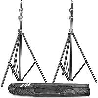 DIGITEK® (DLS-009 FTK) Lightweight & Portable 9 Feet Aluminum Alloy Light Stand for Photography & Video Shooting   Ring…