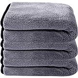 Lifaith Chiffon de nettoyage ultra doux et épais en microfibre pour voiture, polissage ciré, séchage rapide, multifonction, 4