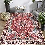 Fancytan Oosterse omgeving tapijt, rood, groot tapijt voor woonkamer slaapkamer (120 x 160 cm x 5,3 ft)