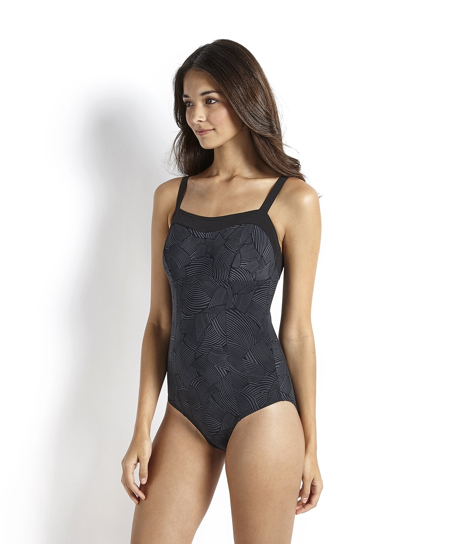 43b8a388322063 Speedo Women's Sculpture Pure Sun Printed 1-Piece Swimsuit: Amazon.co.uk:  Sports & Outdoors