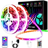 Led Lights, L8star 10.2m Smart Led Light 5050 Colorful RGB Led Strips Lights for Bedroom with Bluetooth and Remote Control Sy