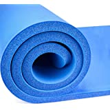 YOZO 13 mm Extra Thick Yoga and Exercise Mat Anti Skid Carrying Strap Gym Workout Flooring Exercise (Blue)