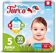 Baby Turco Bebek Bezi 5 Numara Junıor 32 Adet