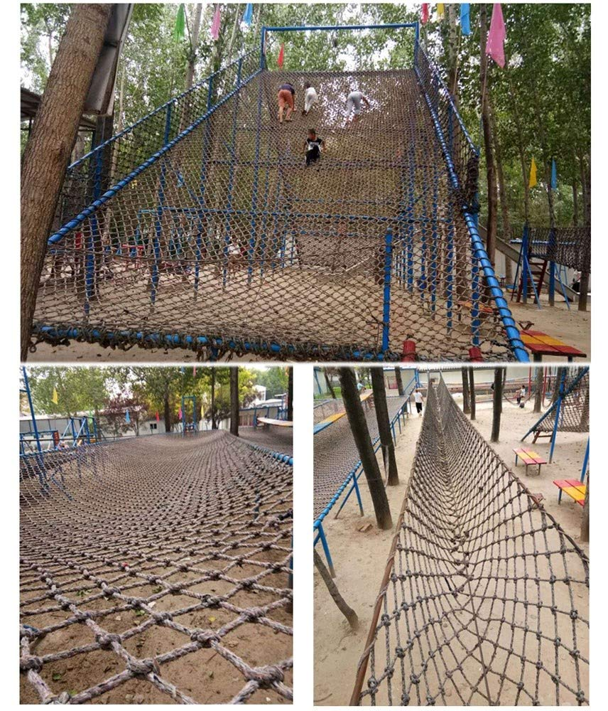 """Climbing Net for Kids,Climbing Net for Adults 8ft Climbing Swing Set Climb Wall Cargo Playground Rock Tree Adult 8x8 Nylon Rope Large Play Indoor Giant Mesh Heavy Duty Climbing Net Nets Netting Outd AEINN ★Climbing Net Material: polyamide fibre. ★Net Climbing Wall Characteristics: Elastically extensible ability of small, weather resistant, wear resistant, long service life,environmentally friendly, non-toxic, quality assurance.This material can change color by itself. ★Climbing Cargo Net Mesh size*rope diameter: 15cm*16mm(6""""*5/8""""),20cm*18mm(39/5""""*7/10""""),25cm*20mm(49/5""""*4/5""""). Length*width: please make purchase according to your actual needs.We have any other size (rope diameter, mesh, length * width) rope net, support customization.If you have any questions or needs, please contact us. 13"""