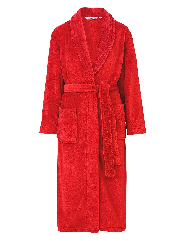 4749adb40caf4 Slenderella Ladies Wrap Around Soft Fleece Dressing Gown Luxury Bathrobe  with Pockets (Small - XXL): Amazon.co.uk: Clothing