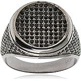 Atiq Black Rhodium Plated Sterling Silver Ring for men