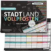 DENKRIESEN - Stadt Land VOLLPFOSTEN® - JUNIOR Edition - Für Kinder und Jugendliche   Spielblock Geburtstagsgeschenk…