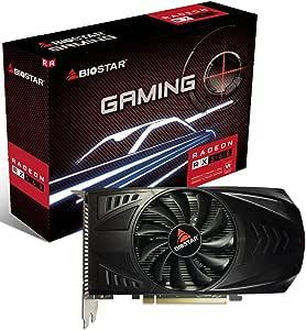 Biostar Oc Gaming Radeon Rx 560 4gb Gddr5 128 Bit Directx 12 Pci Express 3 0 X16 Dvi D Dual Link Hdmi Displayport Und Vortex Lüfter Computers Accessories