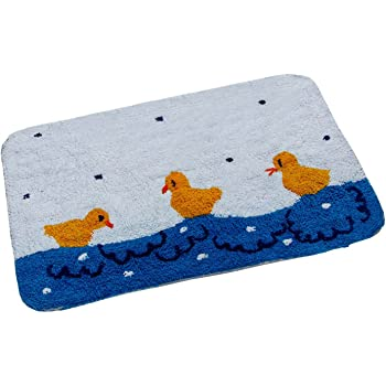 Homescapes Rubber Duck Bath Mat 45 X 75 Cm 1400 Gsm Rug