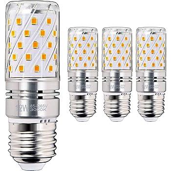 Hzsane E27 LED maíz bombilla, 12W, 3000K Blanco cálido LED bombillas, 100W incandescente bombillas equivalentes, 1200lm, Edison tornillo cilíndrico ...