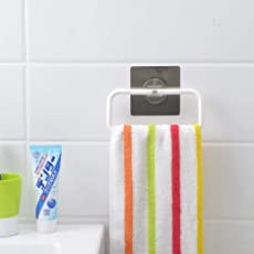 HOME CUBE Magic Sticker Series Self-Adhesive Plastic Towel Holder Hanger (SQ-5035)